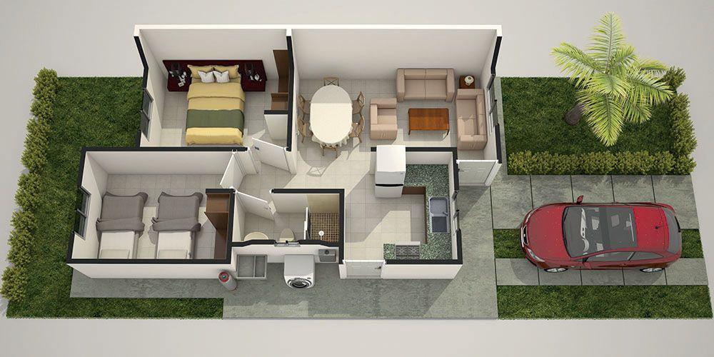 Decoraci n para una casa de infonavit de 50 metros for Decoracion de casas de 30 metros cuadrados