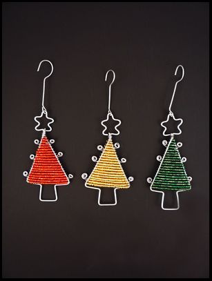 Bead Wire Tree Ornament South Africa Christmas Bead Childrens Christmas Crafts Beaded Christmas Ornaments