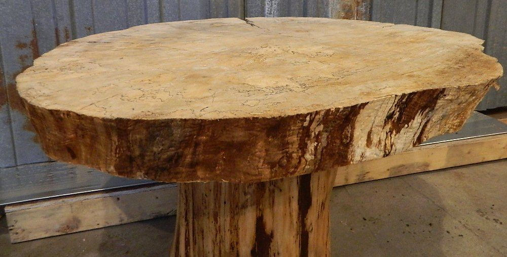Rough Wood Slab Countertops Reclaimed Iowa Lumber Spalted Maple Tree Round Wood Log Slice Table Wood Slab Wood Rough Wood