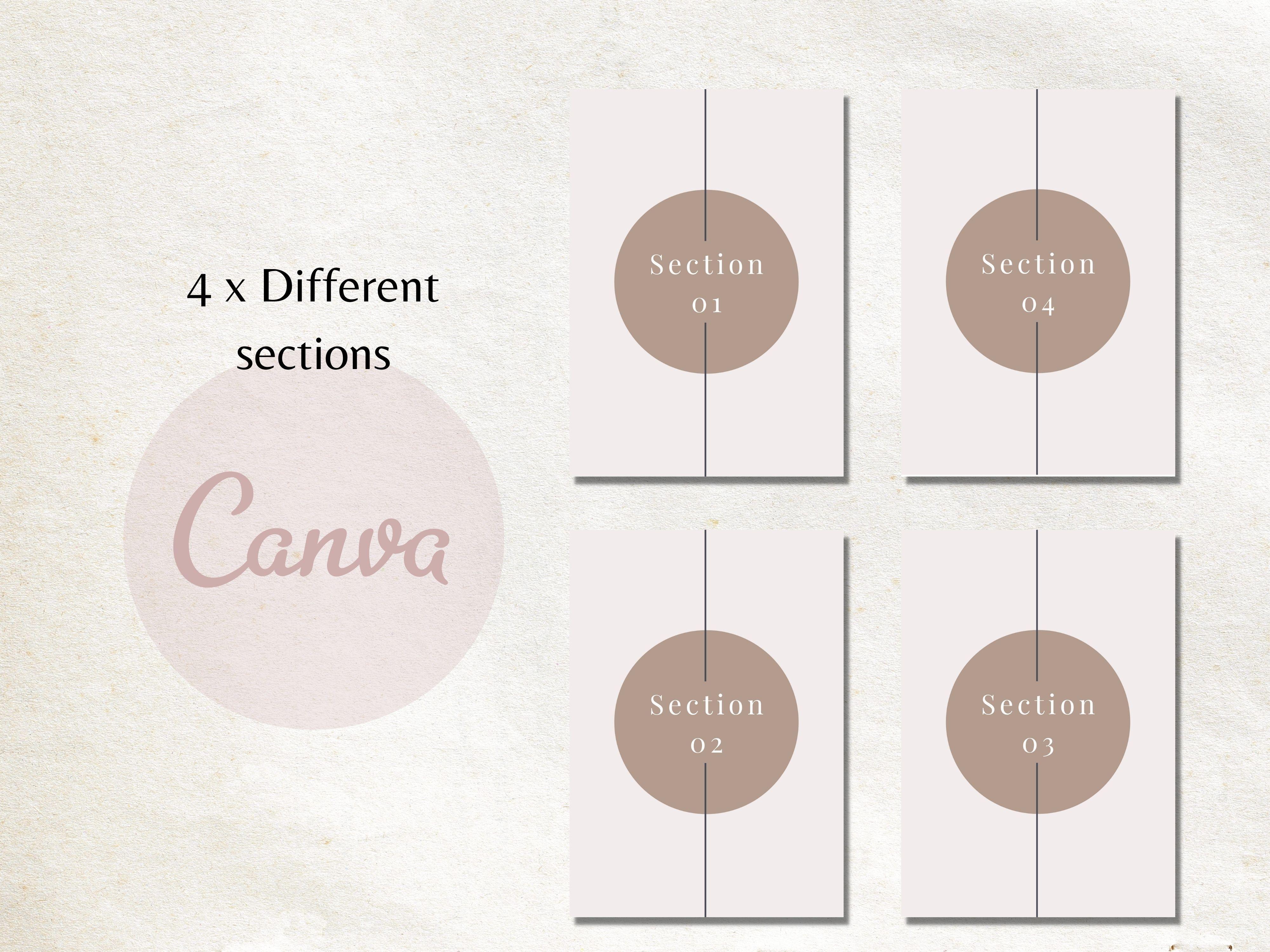 Digital E-workbook Template For Canva