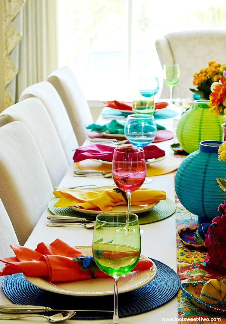 20674718709 Various Place settings for Decorating the Table for a Cinco de Mayo  Celebration