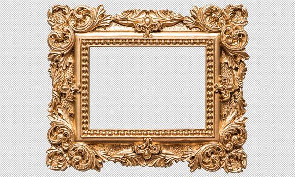 Baroque Golden Picture Frame Png Baroque Frames Gold Picture Frames Frame