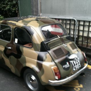 Fiat 500 Camo The Perfect Combo Spotted At Lake Como