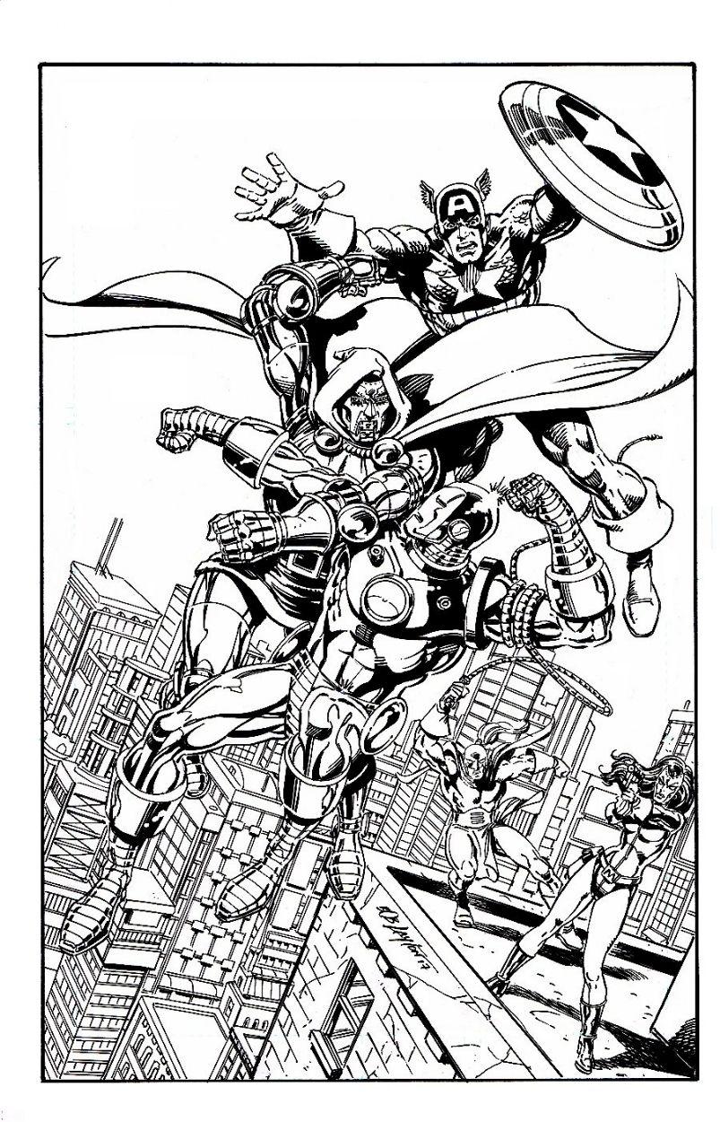 dr doom whiplash madame masque vs iron man captain america commission comic - Masque Captain America