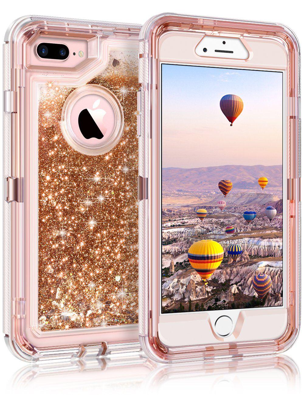 Coolden iphone 8 plus case iphone 7 plus case 3d glitter