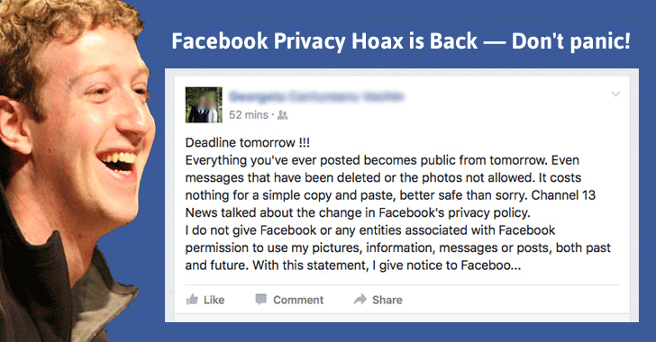 Facebook is Going to make all your Private Photos Public Tomorrow — It's a Hoax!