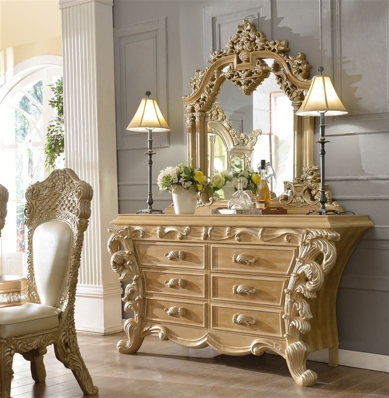Best European Carved And Tufted 6 Piece Bedroom Set By H*M*Y 400 x 300