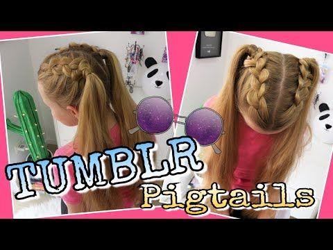 Tumblr Pigtails Halboffene Zöpfe Coole Mädchen Zöpfefrisuren