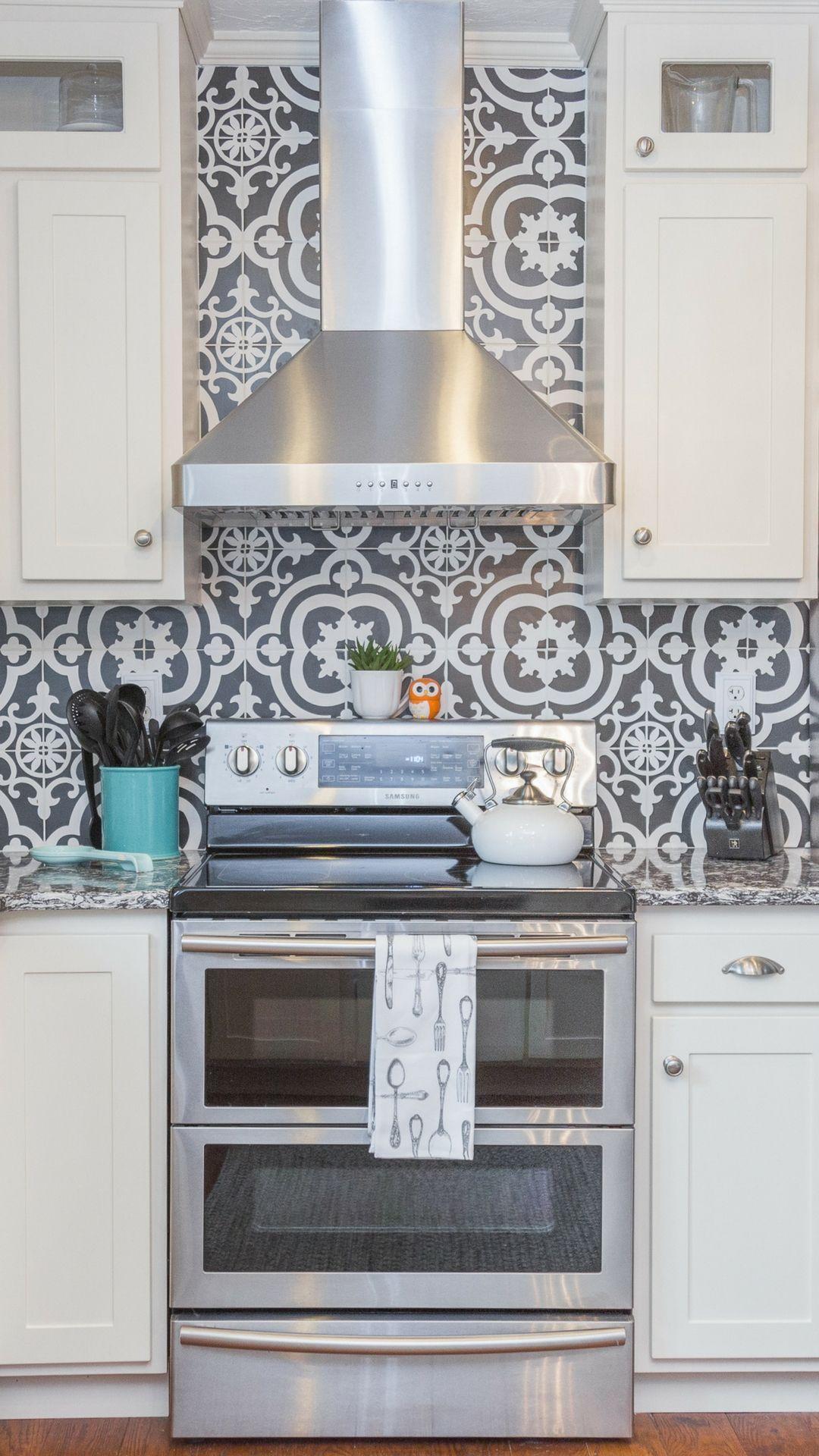 Backsplash around kitchen window  kitchen magic cabinet refacing project kitchenrefacing  kitchen