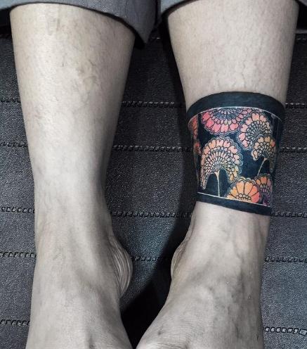 Japanese floral sage cuff by Nadya Natassya   Band tattoo ...