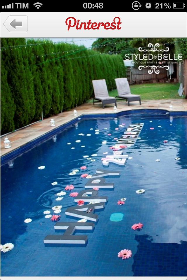 Piscina Party Ideas Pool Party Decorations Party