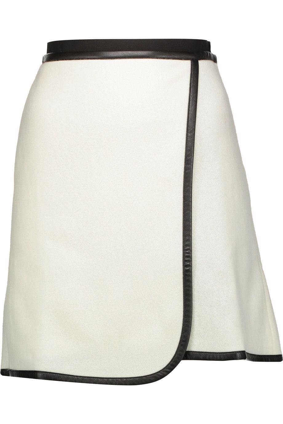 CARVEN . #carven #cloth #skirt · Wrap SkirtsMini SkirtsWhite SkirtsCarvenWool  BlendWraparoundWallet
