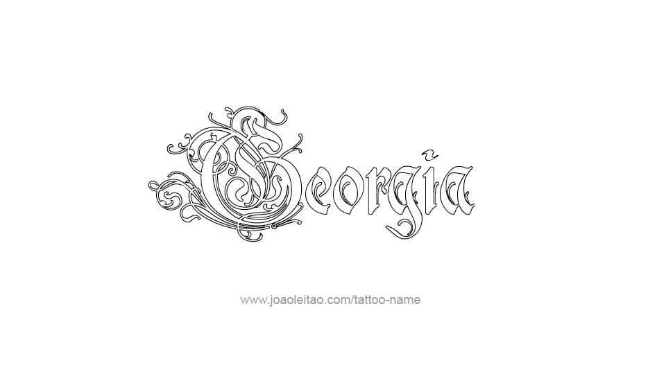 Georgia Usa State Name Tattoo Designs - Page 4 Of 5   Us States