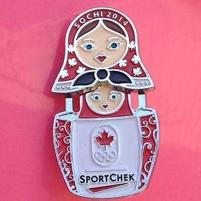 Sochi 2014 Olympics Sponsor Pin Canadian Tire Sportchek Nesting Doll Too Cute | eBay