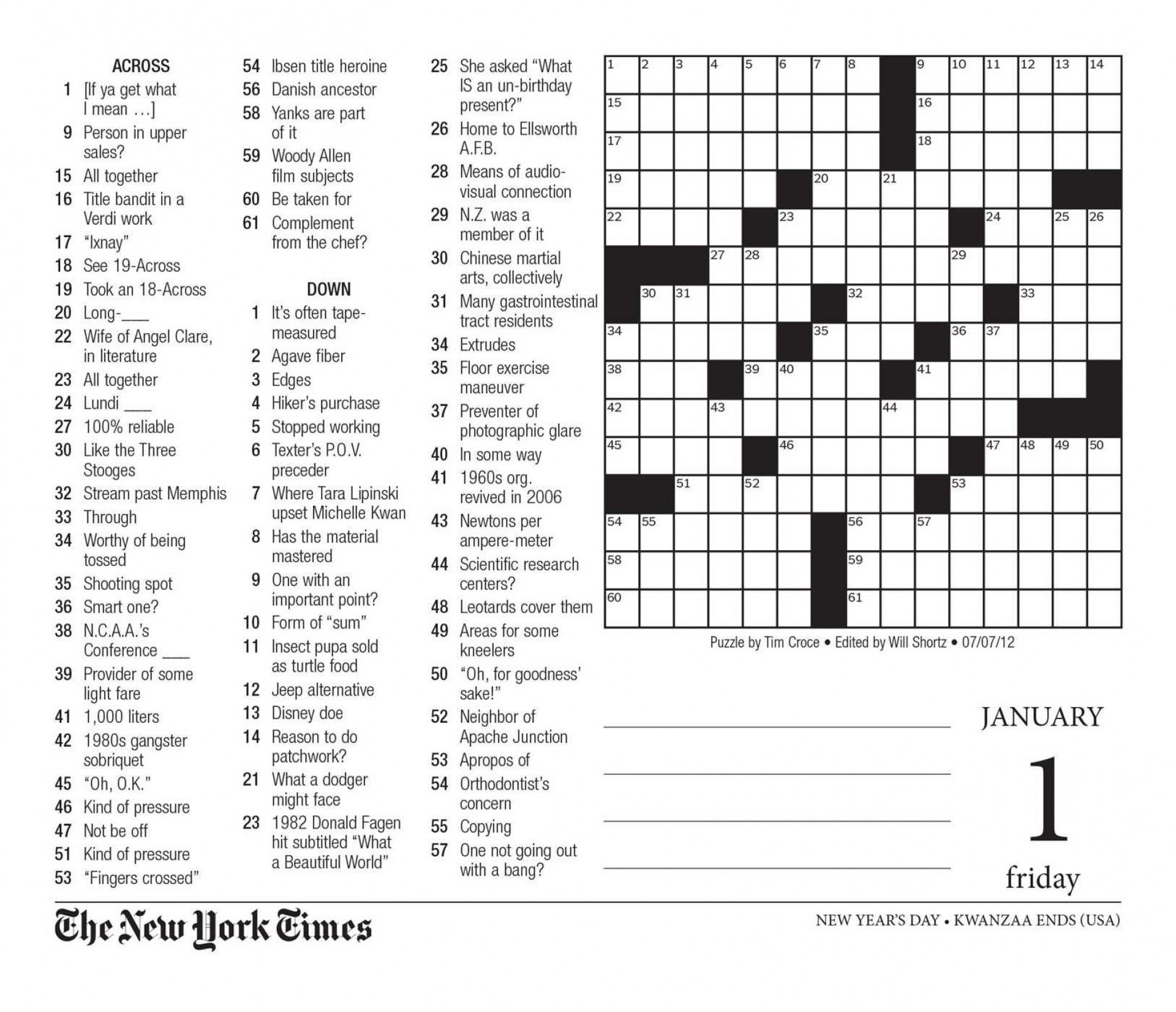 Free Printable Large Print Crossword Puzzles Check More At