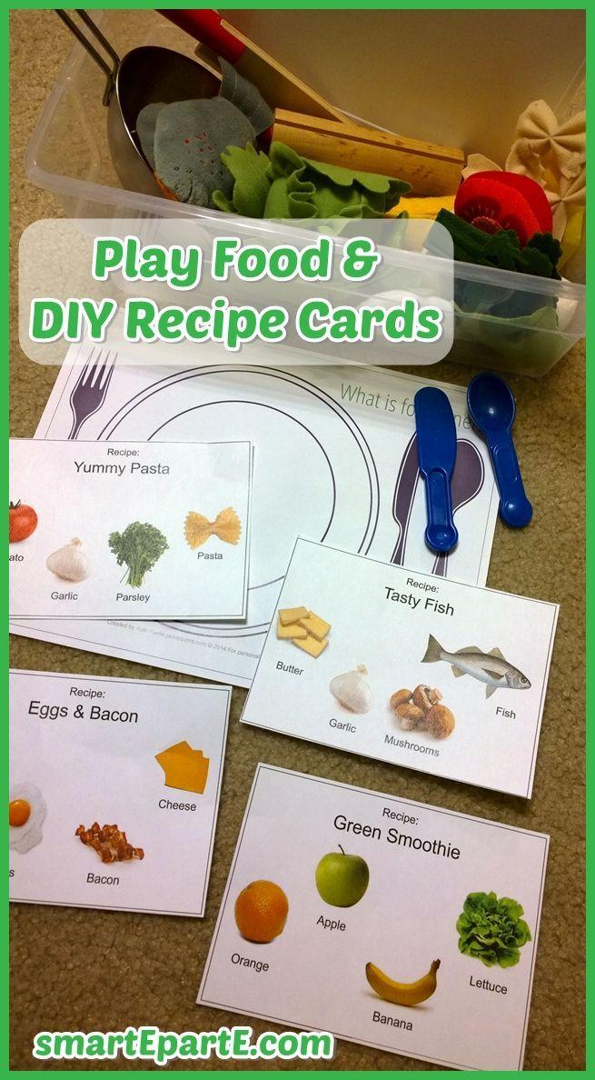 DIY Preschool Recipe Cards for Healthy Fun! Preschool