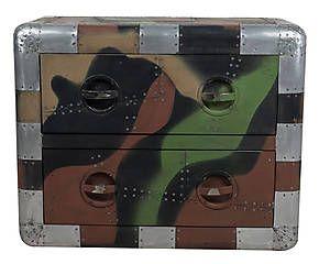 Nachtkastje Camouflage, multicolor, L 80 cm