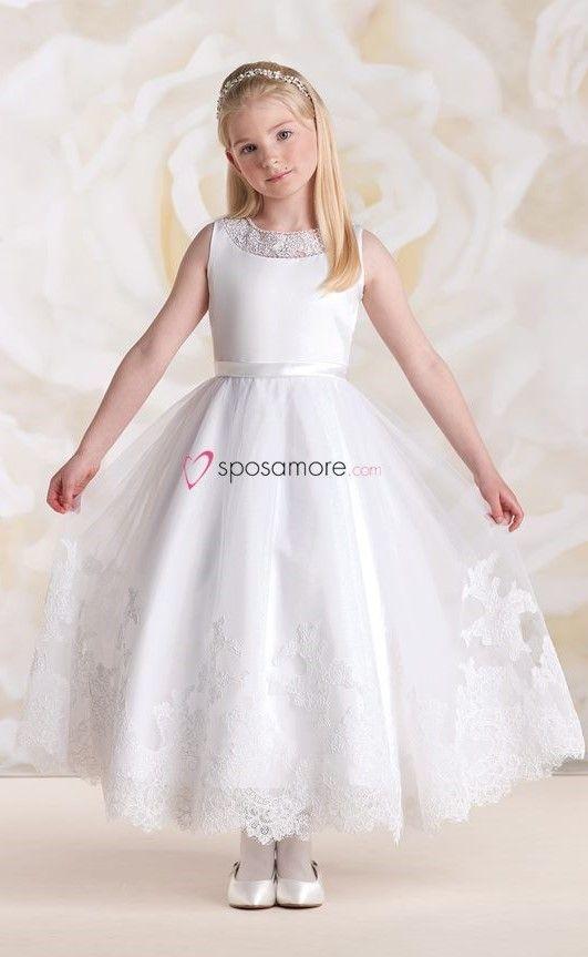 Vestito bianco per bambina anne