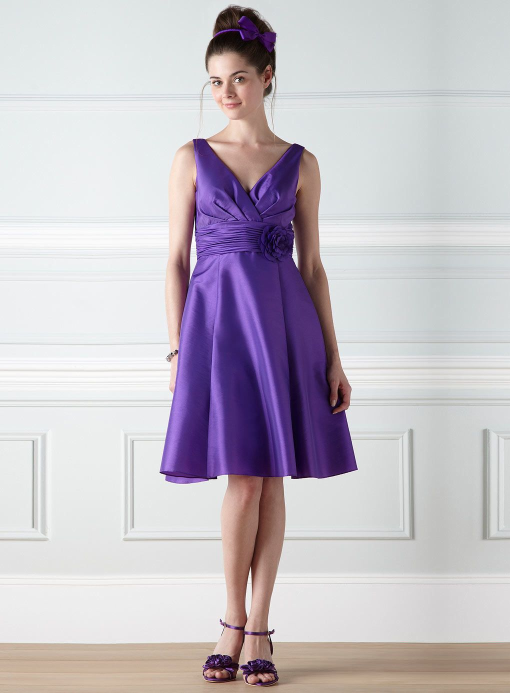 Cecily Purple Taffeta Bridesmaid Dress - bridesmaid dresses - adult ...