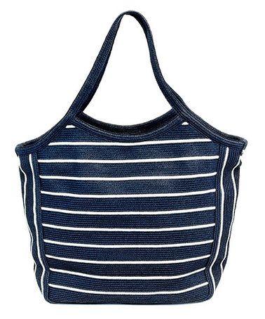 Look at this #zulilyfind! Navy & Ivory Stripe Shoulder Bag #zulilyfinds