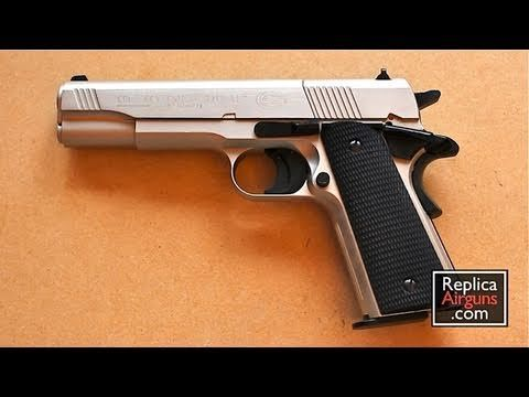 umarex colt government 1911 a1 nickel co2 pellet gun review co2
