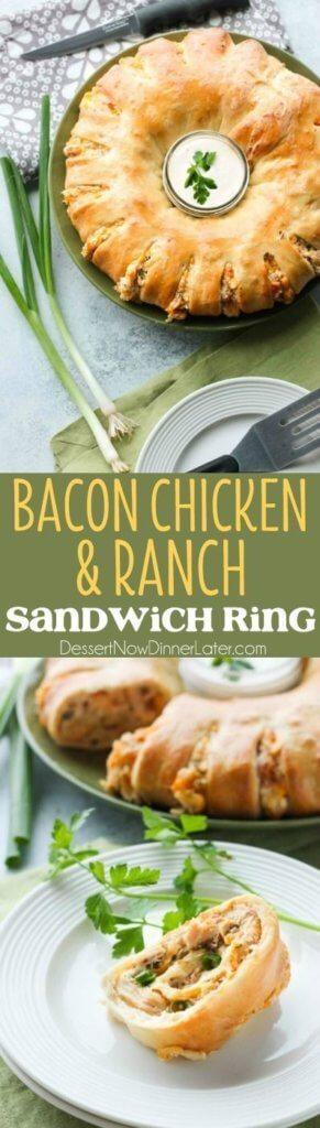 Bacon Chicken Ranch Sandwich Ring