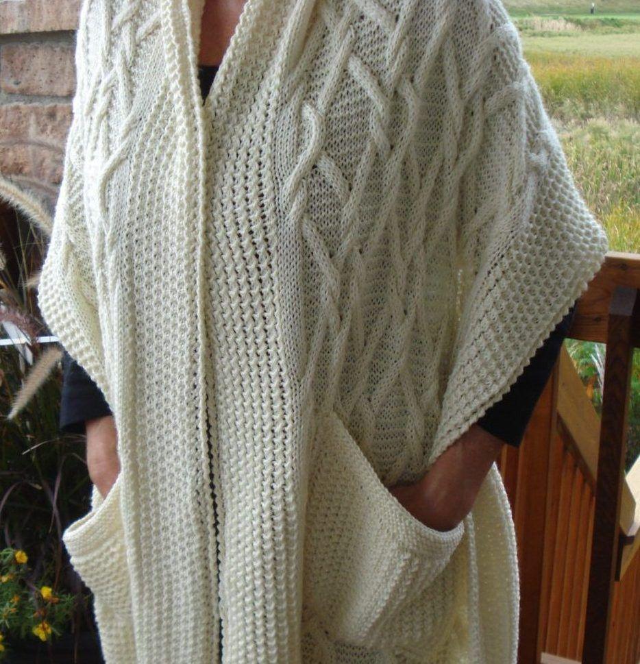 Pocket Wrap Knitting Patterns | Emerald isle, Knit patterns and Shawl