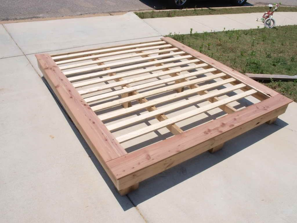 Bed frames with storage plans - How To How To Make A Platform Bed Base How To Build A Platform Bed