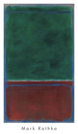 No. 7 (Green and Maroon), 1953 Art Print at AllPosters.com