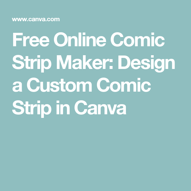 Free online comic strip maker