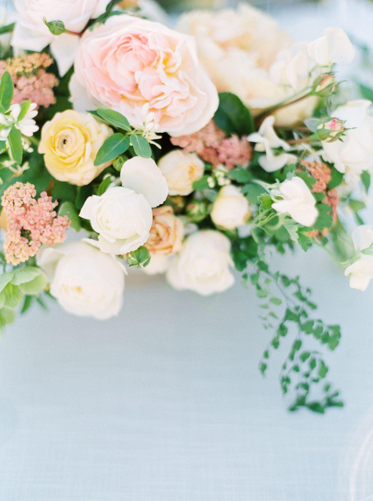 Wedding dress centerpiece  A California Orchard Wedding That Will Give You Butterflies
