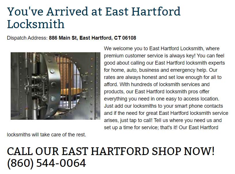 East Hartford Locksmith East Hartford, CT Connecticut