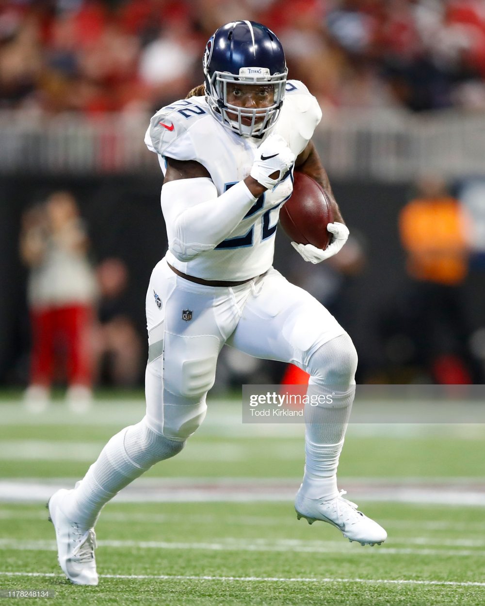 Derrick Henry Of The Tennessee Titans Rushes In The First Half Of An Tennessee Titans Derrick Henry Tennessee