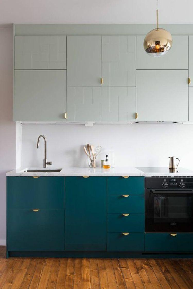 Küchenfronten erneuern Küchenschranktüren austauschen farbig | Retro ...