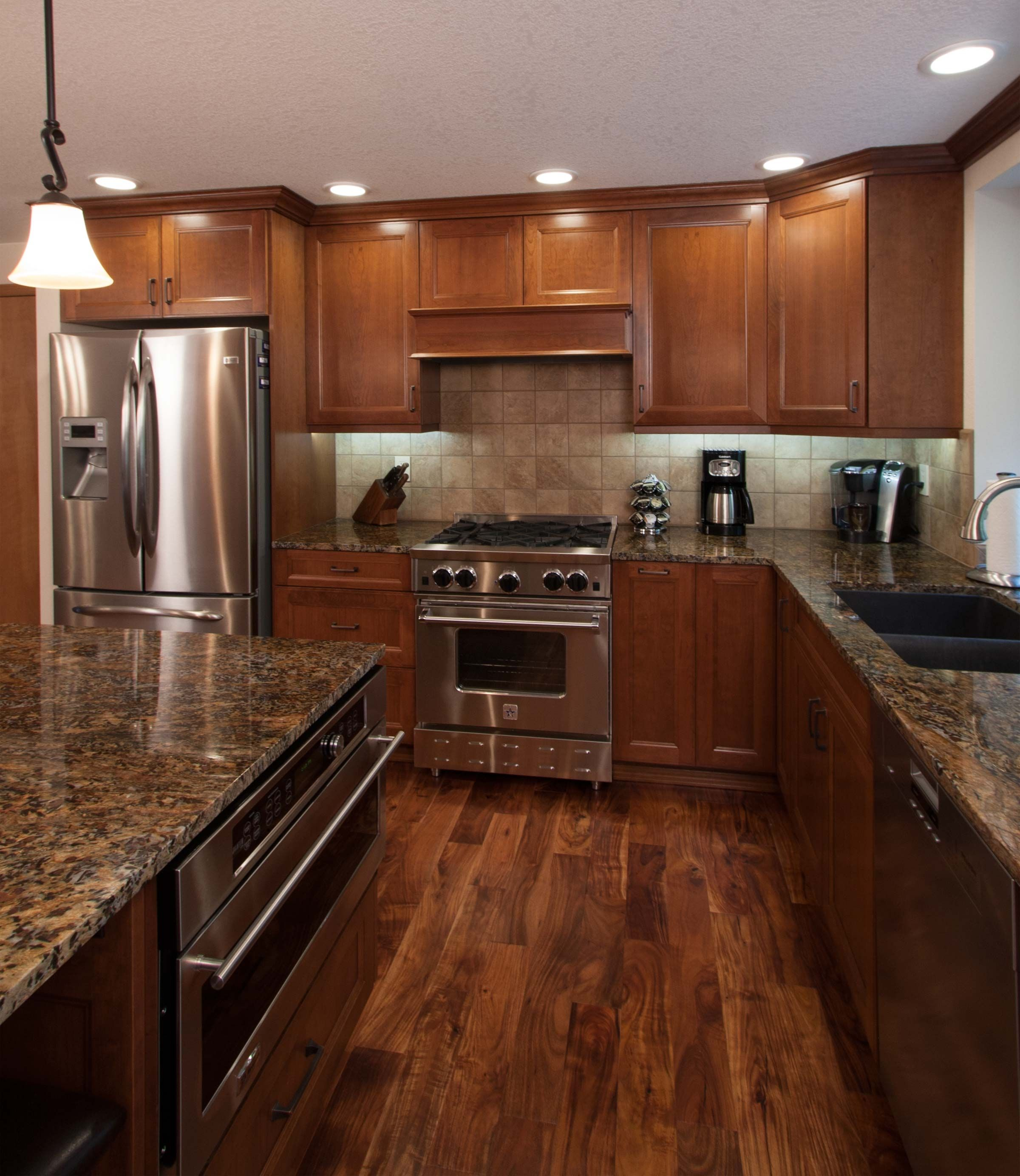 Kitchen Floor Ideas With Wood Cabinets Appealing Wood