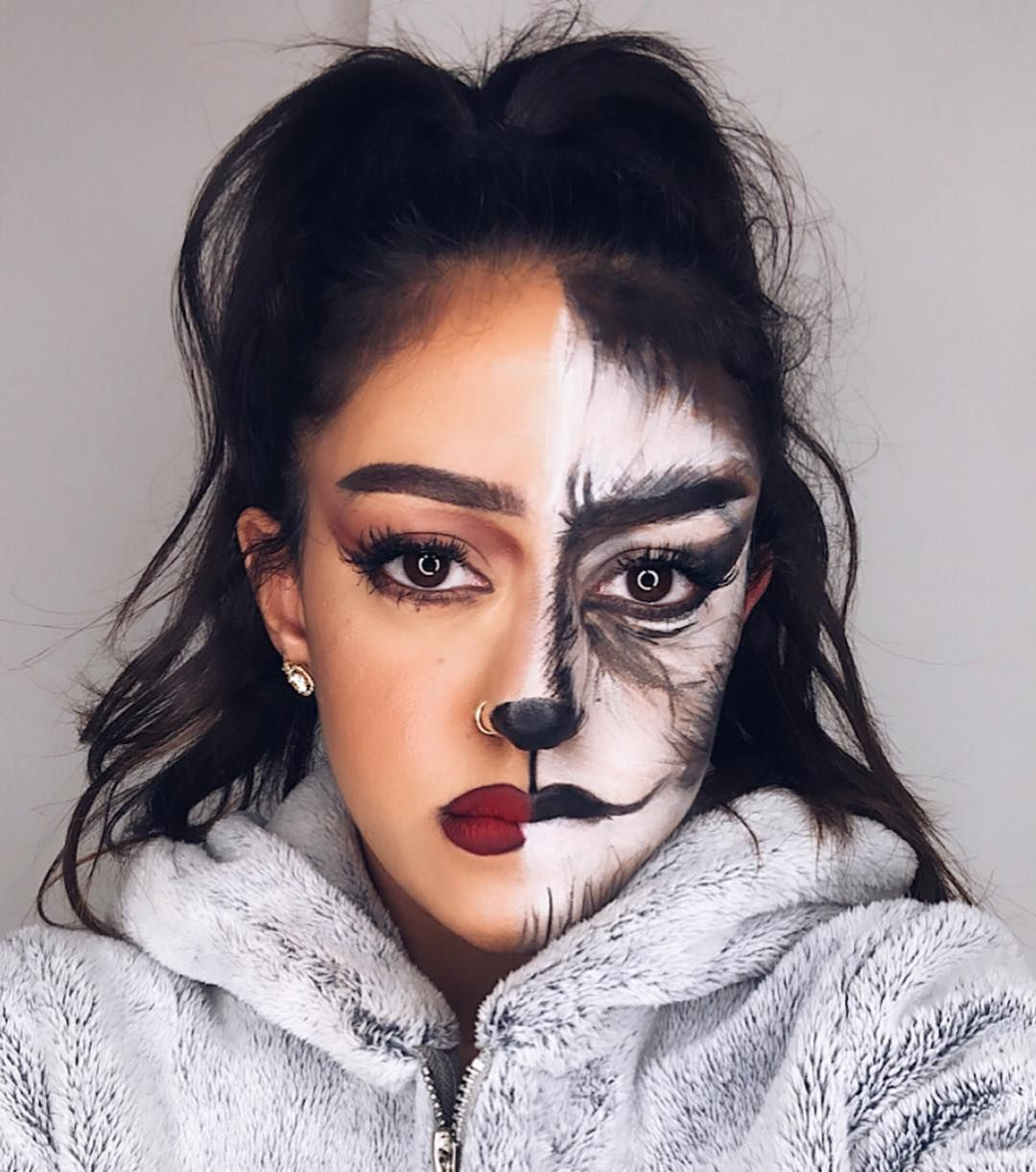 the Halloween Costume — These HalfFace Makeup