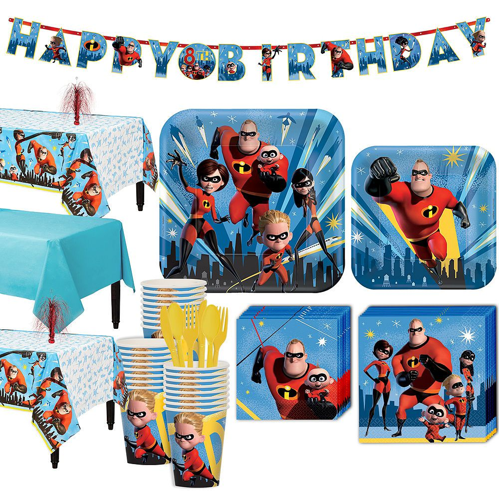 Incredibles 2 Party Kit For 24 Guests Image 1