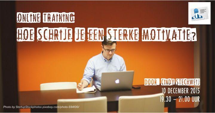motivatiebrief training Uitnodiging online training: