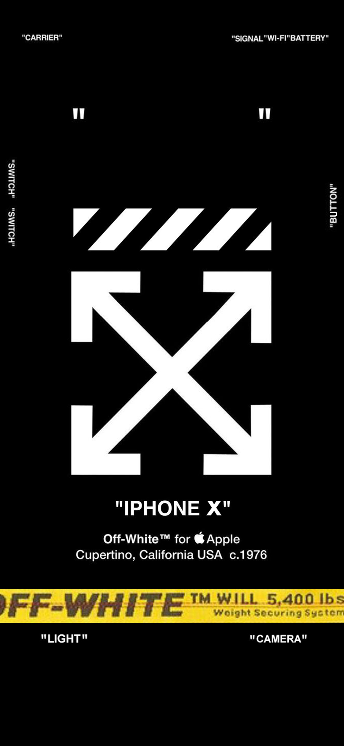 OFF WHITE , LOCK SCREEN for iPhone X iphonex
