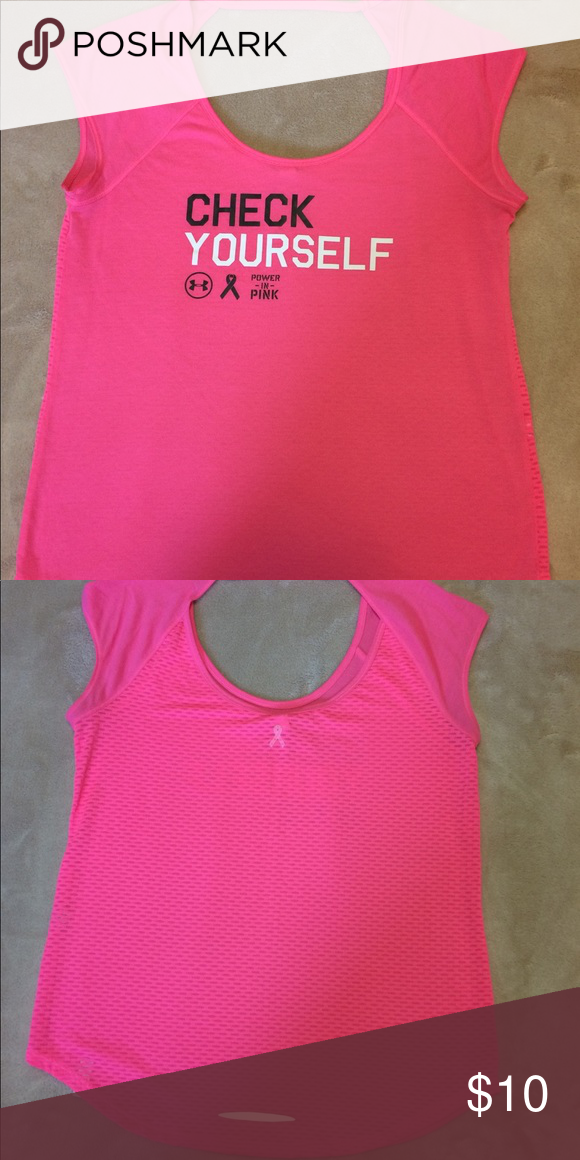 Under Armour Hot Pink Breast Cancer Awareness T Great