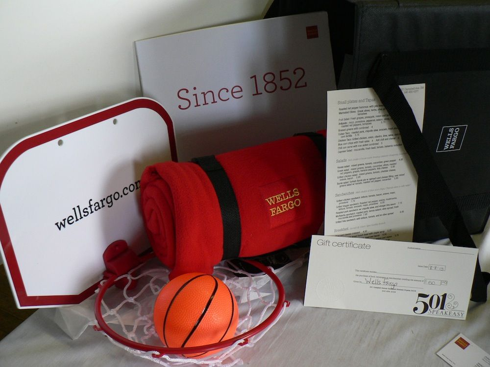 Check Out This Wells Fargo Swag Bag It Includes A 50 Gift Card To