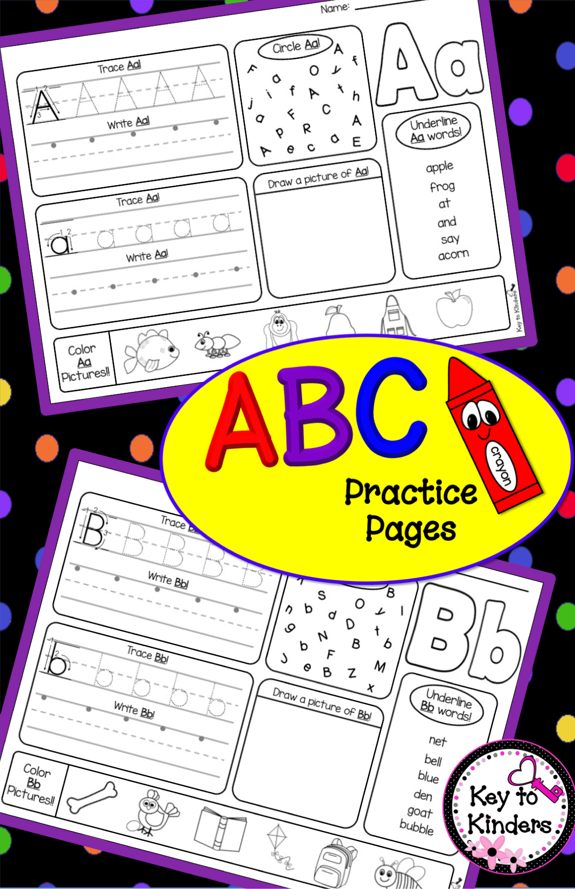 alphabet practice printables kindergarten literacy alphabet preschool learning preschool. Black Bedroom Furniture Sets. Home Design Ideas