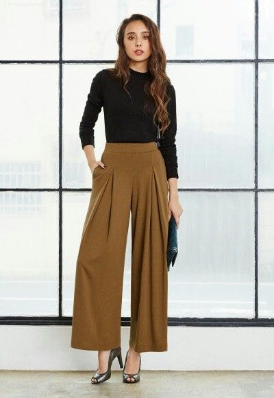 a4a33d909d7815 Jersey flare wide pant. Uniqlo | Style File in 2019 | Wide pants ...