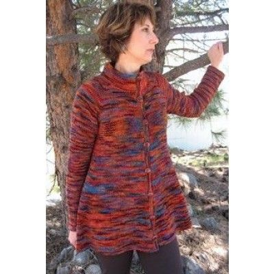 Knitting Pure and Simple Neck Down Swing Coat | Knit ...