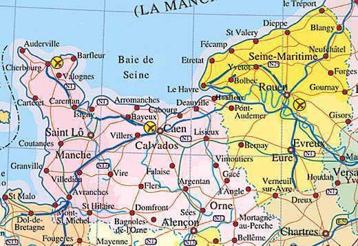 Carte 2 Rouen Normandy Wine Region