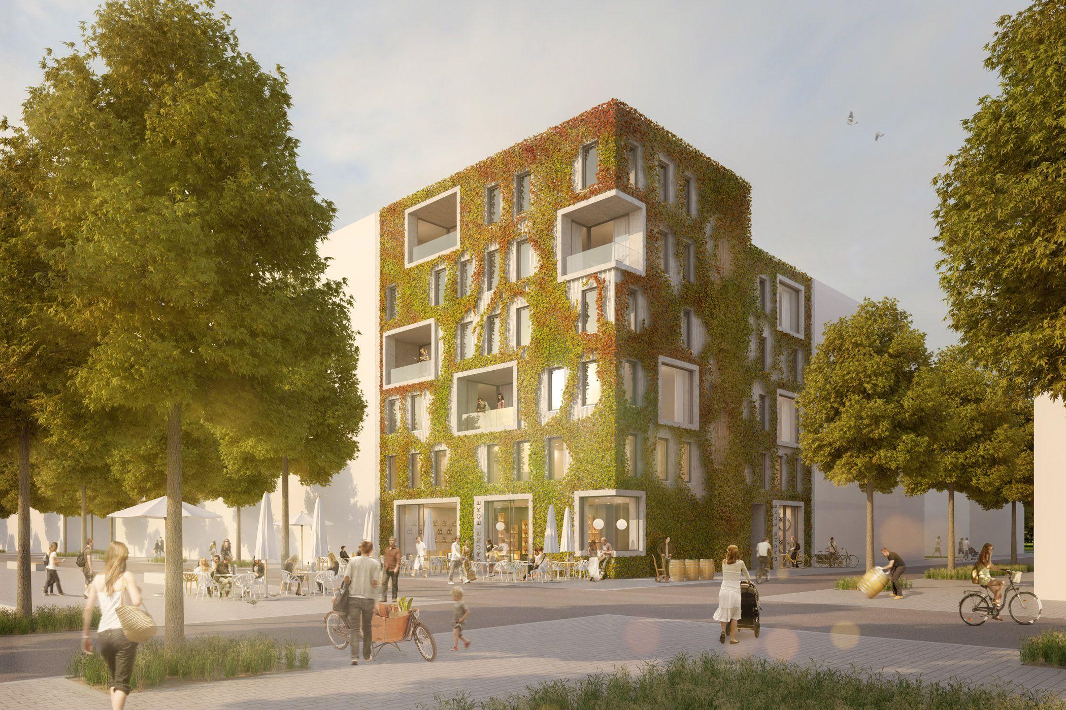Architekturvisualisierung Stuttgart grüne ecke heilbronn raumlabor3 architekturvisualisierung aus