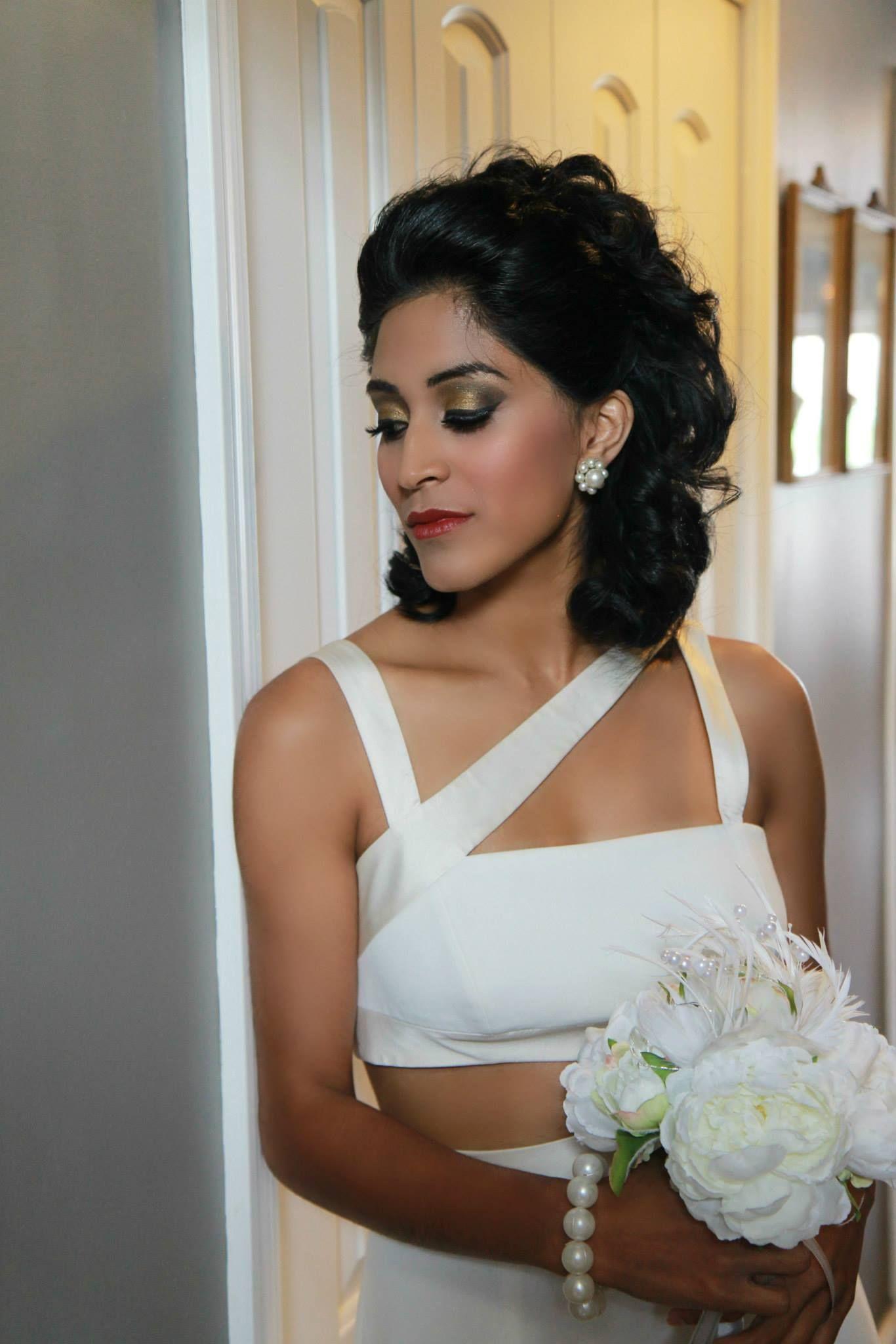 arabic style east asian bridal makeup meghana prasad, chicagoland