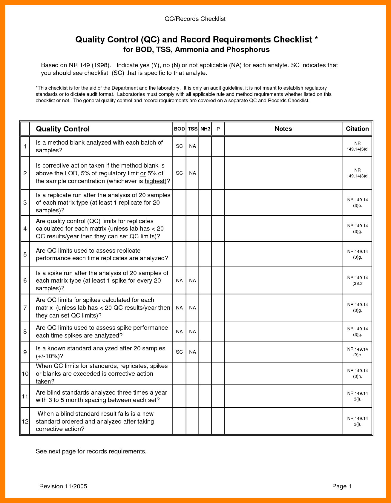 Quality Control Checklist Template Excel Ten Ways On How
