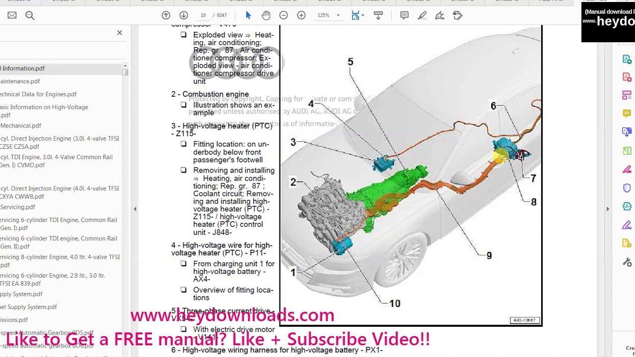 Audi A8 2018 2020 Complete Service Repair Workshop Manual Download Audi A8 Repair Audi
