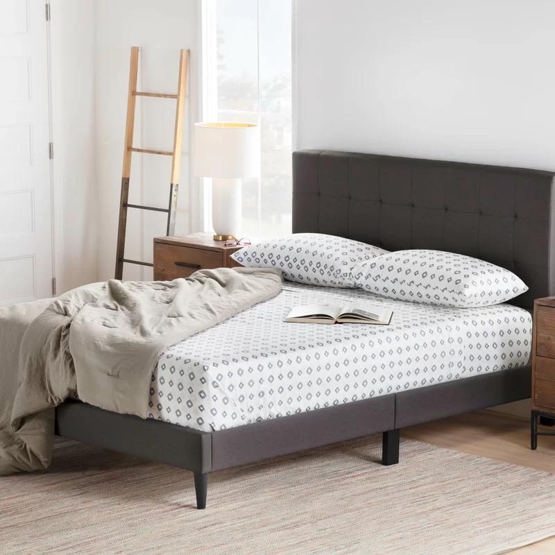 Elmina Upholstered Platform Bed Furniture Upholstered Platform